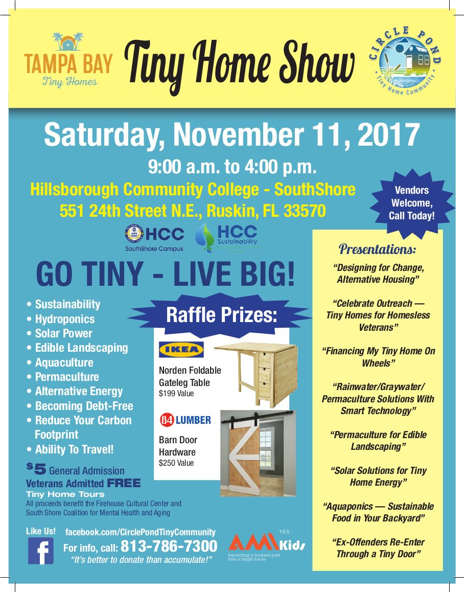 Tiny Home Show is coming to HCC November 11th, 2017