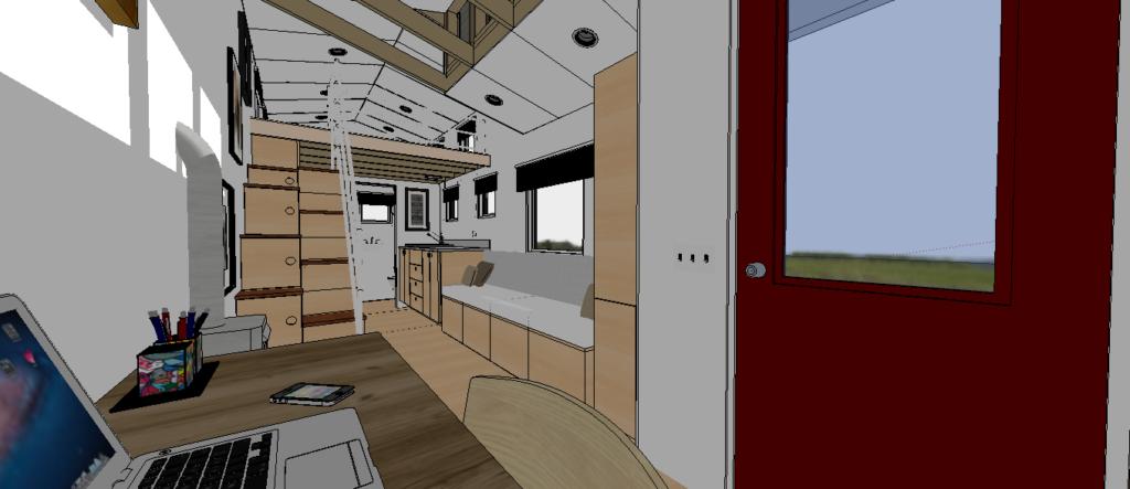 The Breeze Model Tiny House - Interior