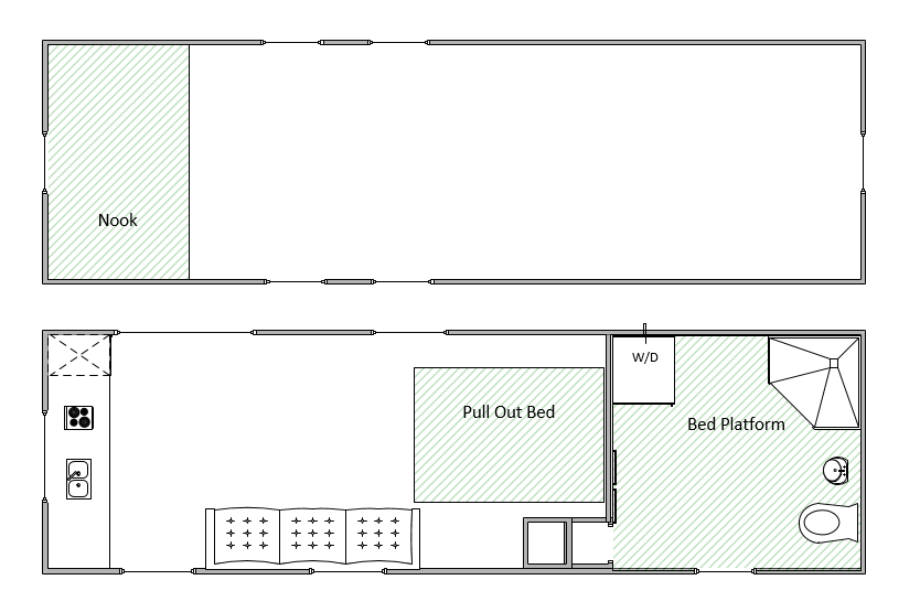 The Breeze Tiny Home Floorplan