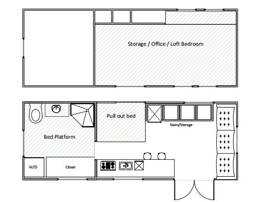 The Current Tiny House Floorplan 2